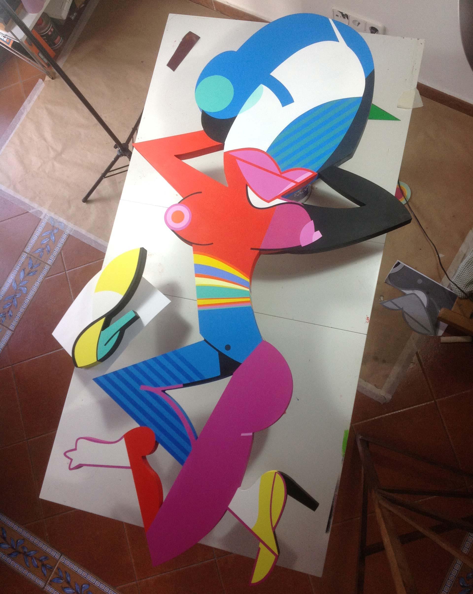 Sculpture creative process